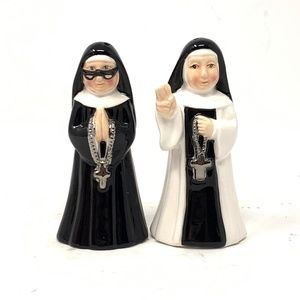 180 Degrees Catholic Nun Salt and Pepper Shakers